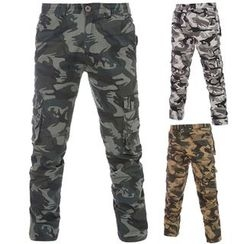 Fireon - Camouflage Print Cargo Pants