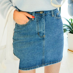 chuu - Denim Mini Skirt