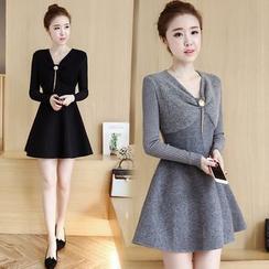 lilygirl - Fleece-Lined Knit Dress