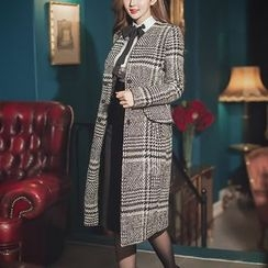 Jolly Club - Houndstooth Button Coat