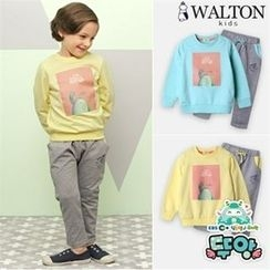 WALTON kids - Set: Printed T-Shirt + Drawstring-Waist Pants