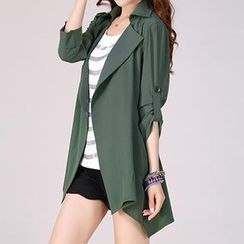 lilygirl - Tab-Sleeve Trench Jacket