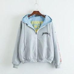TOJI - Printed Hooded Zip Jacket