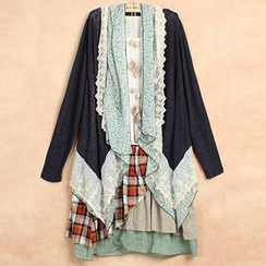 Blue Hat - Floral Lace-Trim Jacket