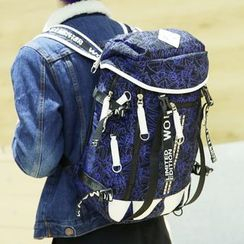 Yiku - Printed Canvas Backpack