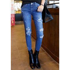 REDOPIN - Distressed Skinny Jeans