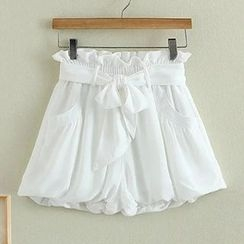 Angel Love - Paperbag Waist Wide Leg Shorts