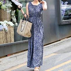 Shimi - Floral Print Sleeveless Maxi Dress