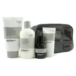 Anthony - Logistics For Men The Perfect Shave Kit: Cleanser + Pre-Shave Oil + Shave Cream + After Shave Cream + Bag