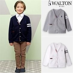 WALTON kids - Boys Contrast-Trim Cardigan