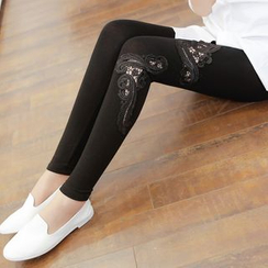 Meigo - Lace Panel Leggings