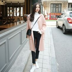 Envy Look - Open-Front Hooded Knit Coat
