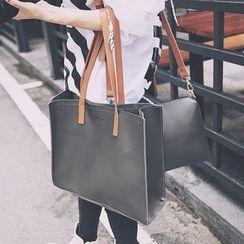 優尚良品 - 套裝: 仿皮手提包 + 斜挎包
