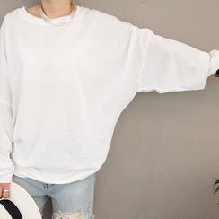 NANING9 - Drop-Shoulder Pullover