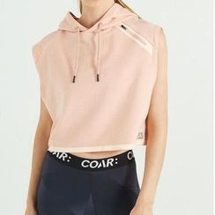 LUSHEY - Sport Cropped Hooded Sleeveless Pullover