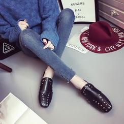 MANMANNI - 方头铆钉平底鞋