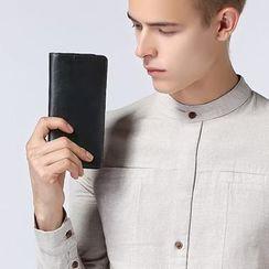 MR.BLUE - Genuine Leather Long Wallet
