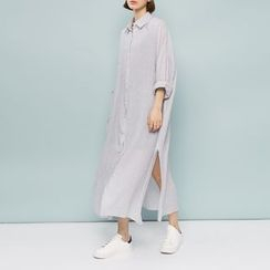 Heynew - Slit Linen-blend Shirtdress