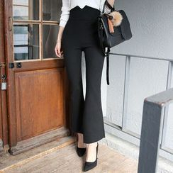 DABAGIRL - High-Waist Boot-Cut Dress Pants