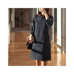 MASoeur - Zip-Back Denim Shift Dress