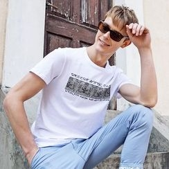 Croni - Print Short Sleeve Crewneck T-Shirt