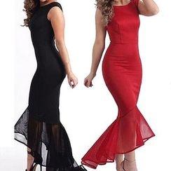 Flobo - Sleeveless Ruffle Bodycon Party Dress