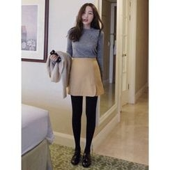 maybe-baby - Slit-Side Wool Blend Skirt