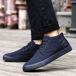 MARTUCCI - Lace-Up Canvas Sneakers