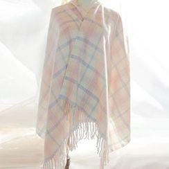 Nikiki - 流蘇格子圍巾