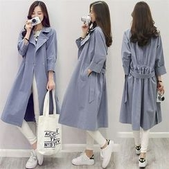 Donnae - 3/4-Sleeve Trench Coat with Sash