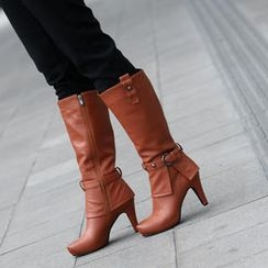 59th Street - Belted Tall Boots