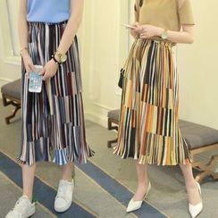 Sienne - Striped Chiffon Culottes