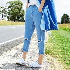 Sam's Tree - Distressed Slim-Fit Jeans
