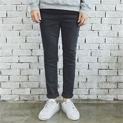 MITOSHOP - Brushed-Fleece Lined Slim-Fit Jeans