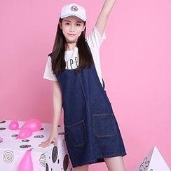 Ashlee - Denim Jumper Dress