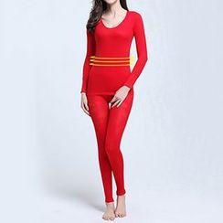 Giselle Shapewear - Set: Long-Sleeve Top + Leggings