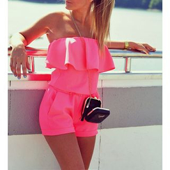 Dream a Dream - Frilled Strapless Playsuit