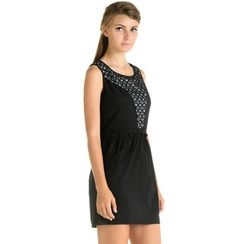 59 Seconds - Inset Lace V-Neck Sleeveless Dress