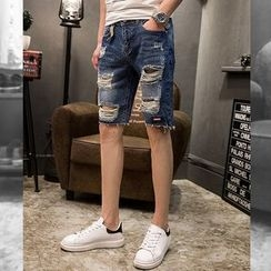SIRIUS - Distressed Denim Shorts