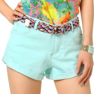 YesStyle Z - Distressed Shorts with Belt