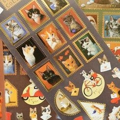 OH.LEELY - Bronzing Cat Stamp Stickers