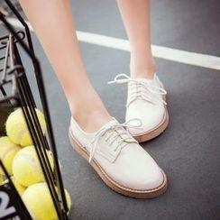 Pretty in Boots - Patent Oxfords
