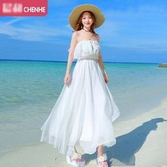 Morning Dew - Off-shoulder Chiffon Sundress