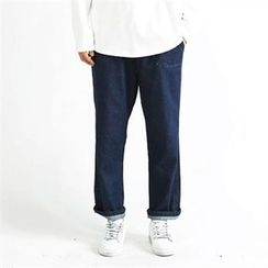 THE COVER - Drawstring-Waist Straight-Cut Jeans
