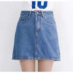 Colorful Shop - Denim A-Line Skirt