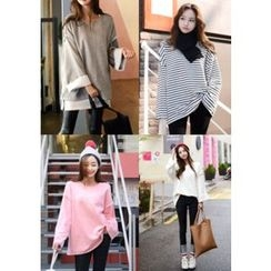 DEEPNY - Drop-Shoulder Loose-Fit Pullover