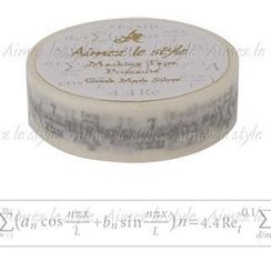 Aimez le style - Aimez le style Masking Tape Primaute Regular Greek Maths Silver