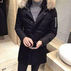 Dexter - Furry-Trim Hooded Puffer Coat