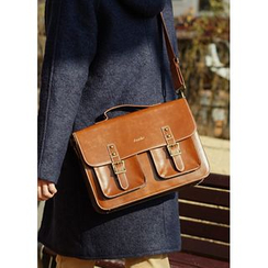 JOGUNSHOP - Synthetic Leather Satchel