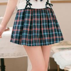 Candy Rain - Plaid A-Line Skirt